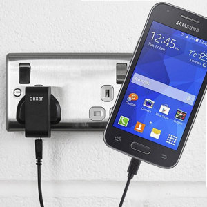 Charge your Samsung Galaxy Ace 4 quickly and conveniently with this 2.4A high power charging kit. Featuring mains adapter and USB cable.