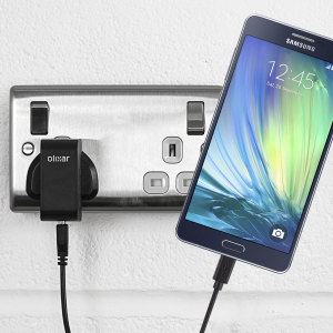 Charge your Samsung Galaxy A7 quickly and conveniently with this compatible 2.4A high power charging kit. Featuring mains adapter and USB cable.
