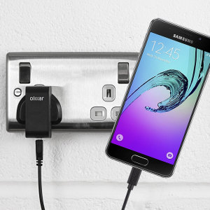 Charge your Samsung Galaxy A3 2015 quickly and conveniently with this compatible 2.5A high power charging kit. Featuring mains adapter and USB cable.