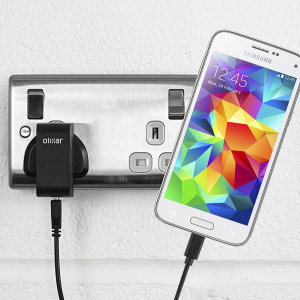 Charge your Samsung Galaxy S5 Mini quickly and conveniently with this compatible 2.4A high power charging kit. Featuring mains adapter and USB cable.