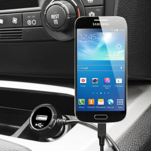 Keep your Samsung Galaxy Ace 4 fully charged on the road with this high power 2.4A Car Charger, featuring extendable spiral cord design. As an added bonus, you can charge an additional USB device from the built-in USB port!