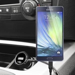 Keep your Samsung Galaxy A5 2016 fully charged on the road with this high power 2.4A Car Charger, featuring extendable spiral cord design. As an added bonus, you can charge an additional USB device from the built-in USB port!