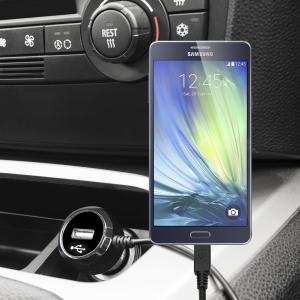 Laden Sie Ihr Micro-USB-Gerät unterwegs auf, mit diesem Hochleistungs 2.4A Samsung Galaxy A3 Kfz-Ladegerät mit ausziehbarem Spiralkabel-Design.