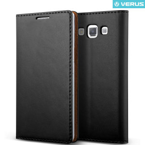 Protect your Samsung Galaxy A7 2015 with this precisely designed flip case in black from Verus. Made with smooth premium soft PU leather, the Crayon Diary oozes style.