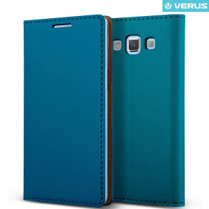 Protect your Samsung Galaxy A7 2015 with this precisely designed flip case in blue from Verus. Made with smooth premium soft PU leather, the Crayon Diary oozes style.