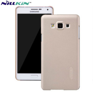 Specifically made for the Samsung Galaxy A7 2015, this protective gold hard shell case from Nillkin will shield your phone from everyday knocks and drops.