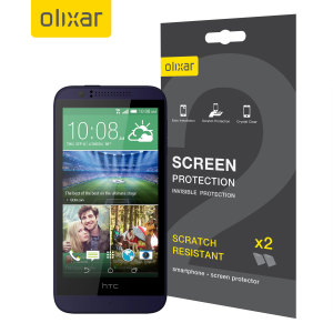 Keep your HTC Desire 510's screen in pristine condition with this Olixar scratch-resistant screen protector 2-in-1 pack.