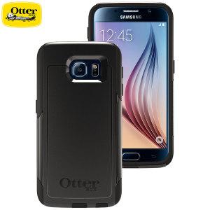 Med element från den robusta Defender-serien och skinnliknande element från Impact-serien skapas svarta eleganta skalet Commuter till Samsung Galaxy S6.