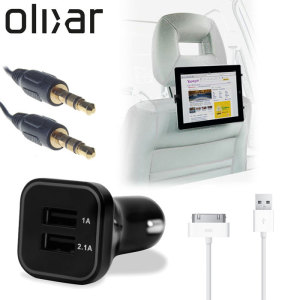 Pack de coche para tabletas Apple de 30 pines Olixar Ultimate