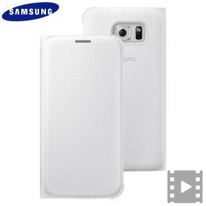 Proteja su Samsung Galaxy S6 con esta funda de Samsung. Además, en la tapa, dispone de una ranura para guardar tarjetas.