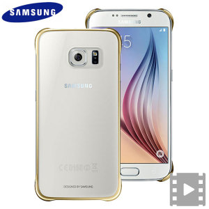 Funda Official Samsung Galaxy S6 Clear Cover - Dorada