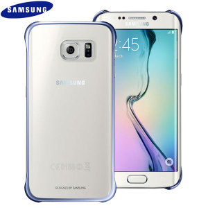Official Samsung Galaxy S6 Edge Clear Cover Case - Blue / Black
