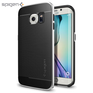 Preserve the super-sleek profile of your awesome Samsung Galaxy S6 Edge while giving it maximum protection with this satin silver Neo Hybrid case from Spigen.