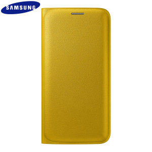 Official Samsung Galaxy S6 Edge Flip Wallet Cover - Yellow