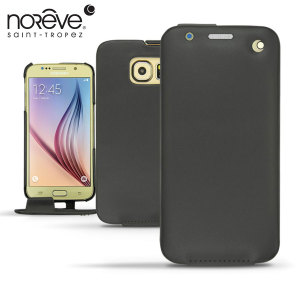 Noreve Tradition Samsung Galaxy S6 Leather Flip Case - Black