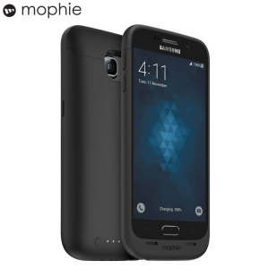 The Mophie Juice Pack in black is a 3,300mAh battery case with added power and protection made for the Samsung Galaxy S6. Equipped with over 100% extra battery to make it through the longest flights or busiest weekends.