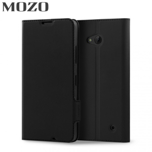 The Mozo classic leather style flip case in black wraps your Microsoft Lumia 640 in sophisticated, slimline protection. Designed to be incredibly helpful, the classic flip case also offers a way to store your wallet inside your case and a media stand.