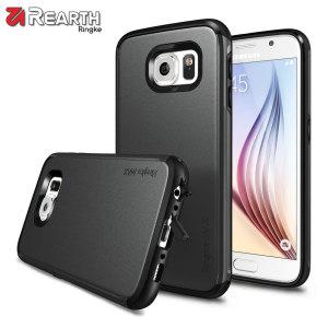 Zorg voor je Samsung Galaxy S6 met slanke maar zware bescherming,  de Ringke dual-layered armor case heeft een stijlvolle ontwerp, de soft touch afwerking behoud ook nog eens de esthetiek en feel van de S6 perfect.