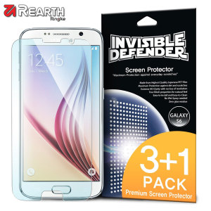 3 pack (plus one extra free) of multi-layered optical enhanced high definition screen protectors for the Samsung Galaxy S6. Features new 'TouchTech' properties for a natural touch and allows for perfect touch screen precision.