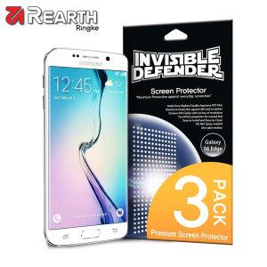 Proteja la pantalla de su Galaxy S6 Edge con este protector Rearth Invisible Defender multi capas.
