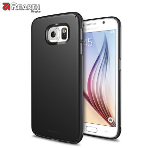 Provide your Samsung Galaxy S6 with ultra-thin, tough snap-on protection with this Ringke Slim black polycarbonate case.