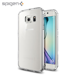 Protect the back and sides of your Samsung Galaxy S6 Edge without affecting the dynamics of the design with this crystal clear, Ultra Hybrid case from Spigen.