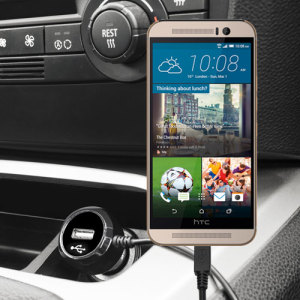 Keep your HTC One M9 fully charged on the road with this high power 2.4A Car Charger, featuring extendable spiral cord design. As an added bonus, you can charge an additional USB device from the built-in USB port!