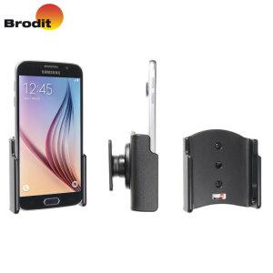 Gebruik je Samsung Galaxy S6 in je auto met deze smalle, nette en discrete Brodit Passive houder, met tilt swivel.