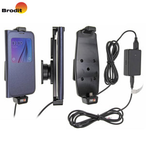 Charge and use your Samsung Galaxy S6 in your vehicle with this case compatible Brodit active holder complete with tilt swivel and the Molex adapter system.