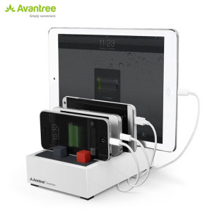 The Avantree PowerHouse Desk USB Charging Station is a perfect solution for charging multiple devices at home or at the office. It can fast charge 4 devices simultaneously and will keep your desk or table top tidy.