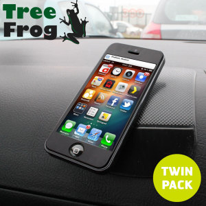 The Tree Frog Dashboard Pad Twin Pack provides a secure resting position for your mobile phone or other items right on your car dashboard without the use of any sticky residue.
