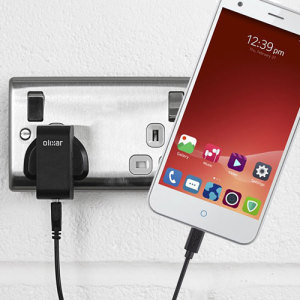 Charge your ZTE Blade S6 quickly and conveniently with this 2.4A high power charging kit. Featuring mains adapter and USB cable.