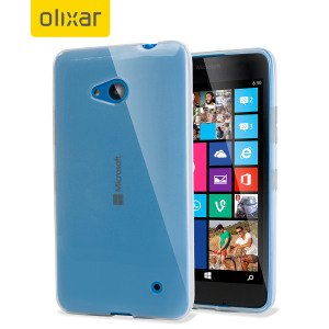 Funda Microsoft Lumia 640 FlexiShield Gel - Blanca Opaca
