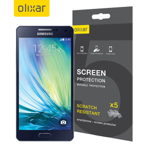 Keep your Samsung Galaxy A5 2015 screen in pristine condition with this Olixar scratch-resistant screen protector 5 in 1 pack.