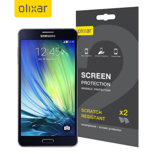 Olixar Samsung Galaxy A7 2015 Screen Protector 2-in-1 Pack