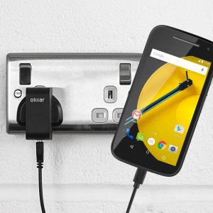 Charge your Motorola Moto E 2nd Gen quickly and conveniently with this compatible 2.4A high power charging kit. Featuring mains adapter and USB cable.