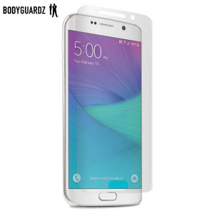 Keep your Samsung Galaxy S6 Edge safe and secure this ultra tough screen protector from BodyGuardz which is made from the same material used to shield the front of vehicles from rock chips.
