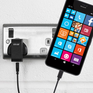 Charge your Microsoft Lumia 640 XL quickly and conveniently with this 2.5A high power charging kit. Featuring mains adapter and USB cable.