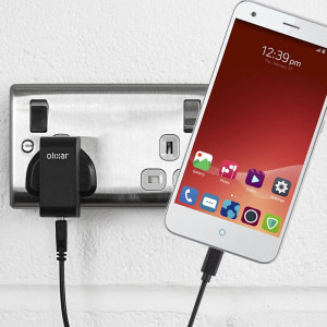 Charge your ZTE Blade S6 Plus quickly and conveniently with this 2.4A high power charging kit. Featuring mains adapter and USB cable.