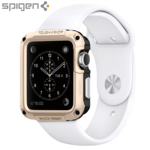 Coque Apple Watch 2 / 1 Spigen Tough Armor (42mm) - Or Champagne
