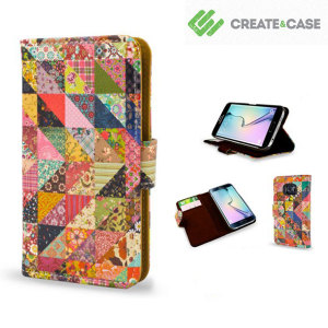Create and Case Samsung Galaxy S6 Edge Book Case - Grandma's Quilt