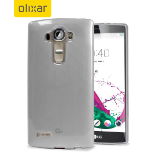 Custom moulded for the LG G4, this frost white FlexiShield gel case provides slim fitting and durable protection against damage.