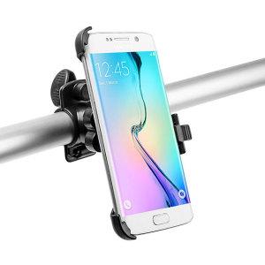 Designad för de flesta cyklar och passar både raka och böjda styren.  Den här cykelhållaren är enkel att installera och har en säker montering så att din Samsung Galaxy S6 Edge inte faller av.