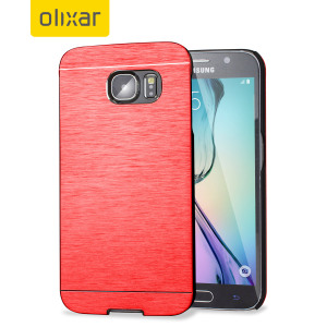 This premium and sophisticated Aluminium series slim, shell case from Olixar in red offers excellent protection for the Samsung Galaxy S6, whilst maintaining it's sleek exterior.