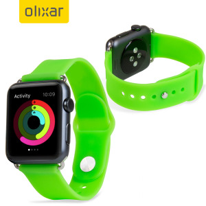 With this silicone rubber wrist strap in green from Olixar you can customise your beautiful new Apple Watch Sport 3 / 2 / 1 38mm to suit your personal style with this high performance material, designed to be durable, strong and comfortable.