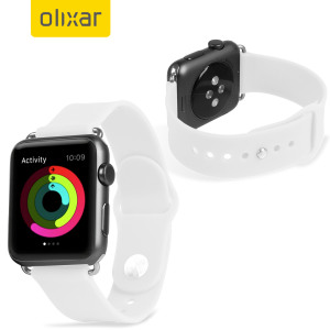 Bracelet Apple Watch 2 / 1 Sport Silicone - 38mm - Blanc