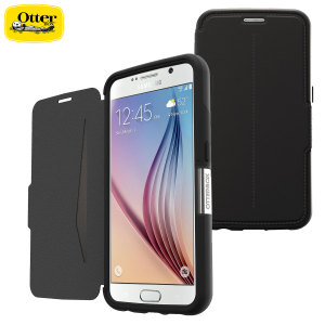 A sophisticated lightweight black genuine leather case, the OtterBox genuine leather wallet cover offers perfect protection for your Samsung Galaxy S6, as well as featuring slots for your cards, cash and documents.
