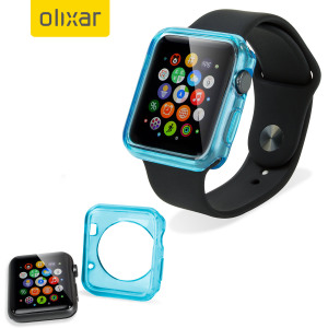 A thin and light protective transparent blue case for the Apple Watch Series 3 / 2 / 1 (38mm) from Olixar. A sleek form-fitted design keeps your Apple Watch slim and safe from harm while still revealing the beauty within.