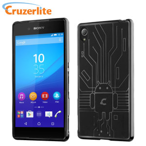Keep your Sony Xperia Z3+ protected from damage with this Android-circuitry inspired, durable black coloured TPU case by Cruzerlite.
