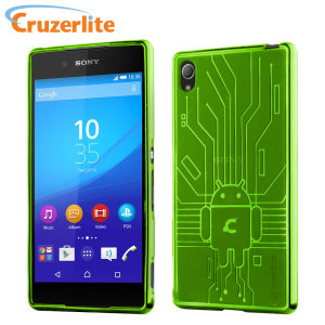 Keep your Sony Xperia Z3+ protected from damage with this Android-circuitry inspired, durable green coloured TPU case by Cruzerlite.